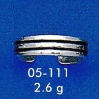 Stripped Band Toe Ring