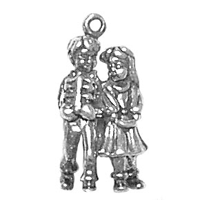Boy and Girl Walking Charm